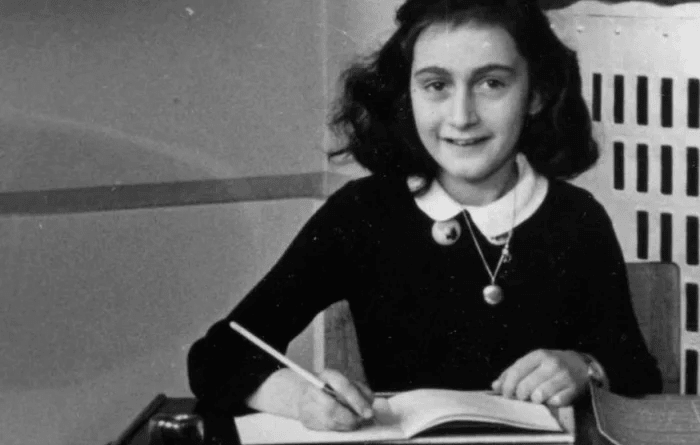 Anne Frank at school in 1940